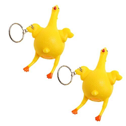 perfk Legen Ei Huhn Form Schlüsselanhänger Zubehör für Schlüsselanhänger, Geldbeutel Rucksack