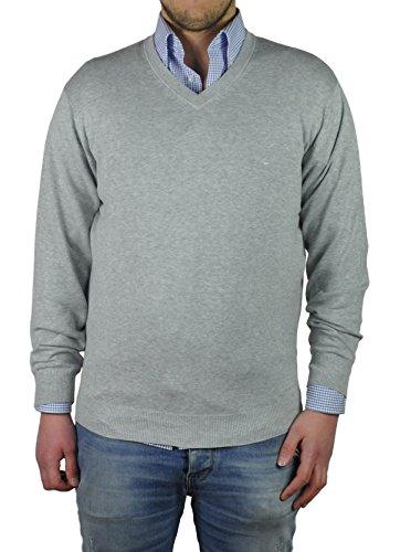 Redmond - Herren Pullover mit V-Ausschnitt in verschiedenen Farben (Art.Nr.: 600) Grau (73)