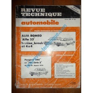 Revue Technique0451 – REVUE TECHNIQUE AUTOMOBILE ALFA-ROMEO 33 Berline – Break – 4×4