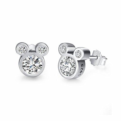 Twenty Plus niedliche, schillernde Disney-Ohrestecker in Mickey Maus-Form, Geschenk für Mädchen und Frauen (Mickey-mouse-hochzeit)