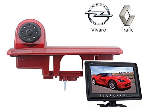 Bild Ro Von (Rückfahrsystem Einparkhilfe Transporter für Renault Trafic und Opel Vivaro ab Baujahr BJ 2014 Rückfahrkamera mit Monitor 23 cm 9 Zoll Inch 10 Meter kabel Farbe IR Nachtsicht YMPA RFS-RO+ST9)