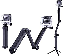 Mobile Gear 3 in 1 Monopod, Tripod, Camera Grip Holder & Tripod With Extended Arm for Action Cameras