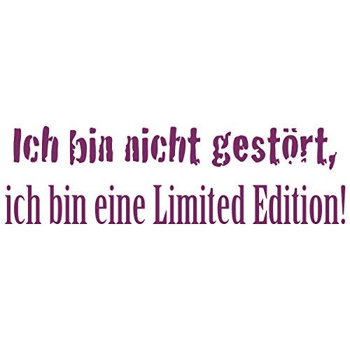 WANDKINGS Wandtattoo – Ich bin nicht gestört, ich bin eine Limited Edition! – Wähle aus 5 Größen & 35 Farben