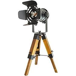 Lámpara de Pie Proyector Trípode Diseño Foco Cinema