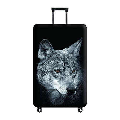 3D Stampa Wolf Design Trolley da viaggio Custodia protettiva Custodia da viaggio 30'-32' Trolley Custodia da viaggio Custodie taglia XL con etichette da viaggio