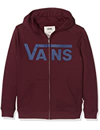 Vans Boys 'Classic con cremallera Sudadera con capucha, Niños, Classic Zip, Port Royale/dress Blues, large