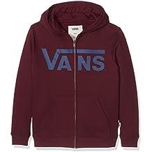 Vans Boys 'Classic con cremallera Sudadera con capucha, Niños, Classic Zip, Port Royale/dress Blues, mediano
