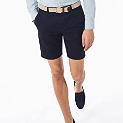 GANT Mens Classic Stretch Cotton Short, Navy, 38