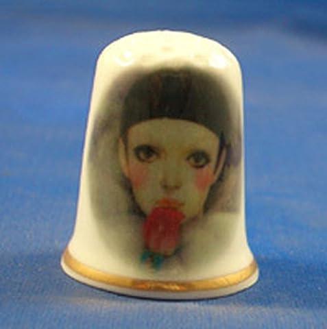 Clown En Porcelaine - En porcelaine anglaise de collection avec dé