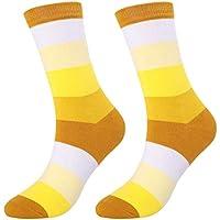 Nikgic - Calcetines Adultos - Algodón - Franja de Moda Engrosamiento de Otoño e Invierno Desodorante