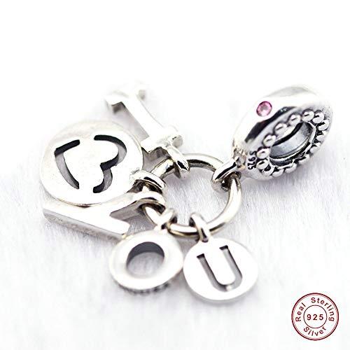 MOCCI Valentine Geschenk ich liebe dich Herz Charme klar CZ Bead 925 Silber DIY passt für Original Pandora Armbänder Charm Modeschmuck