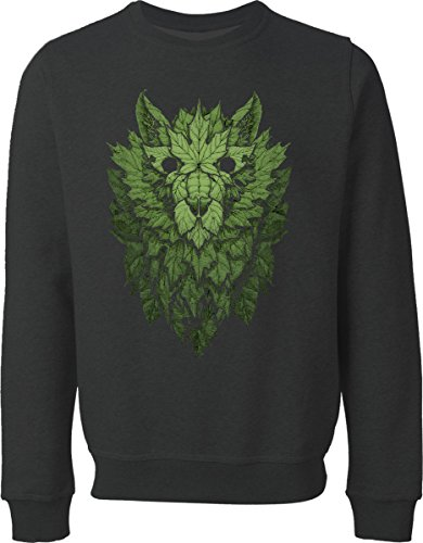 wolf-of-leaves-black-sweater-xl
