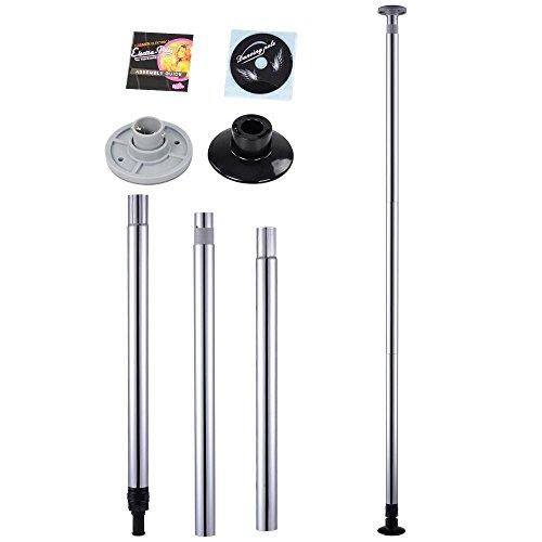 Mophorn Pole Dance Stange 50 mm Pole Dance Tanzstange Edelstahl Static Spining Tanzstange Pole Dance für Zuhause (Silber) (Stangen Zuhause Für Dance)