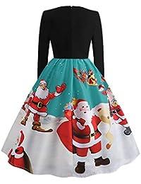3212d4c86718 Yhjklm Elegante Vestito Natale da Donna Natale Natale Santa Pattinatrice  Babbo Natale Confortevole Small Verde
