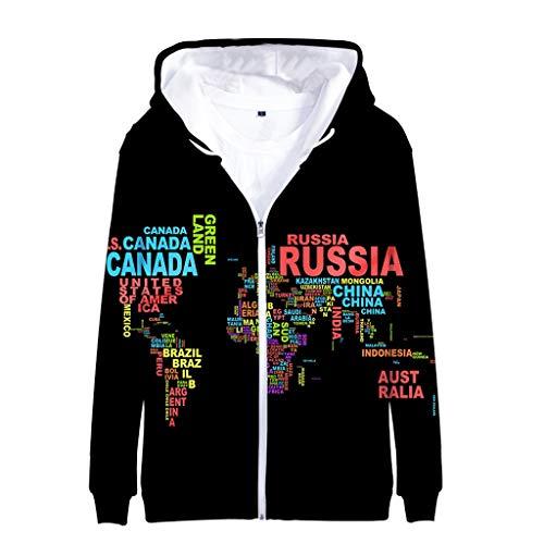 Unisexe Herren Sweatshirt Zipper3D Druck Kapuzenpullover Hoodie Sweatshirt Grafik Langarm Pullover Top Jumper Unterhaltung Shirt Festival Party Kleidung S-5XL