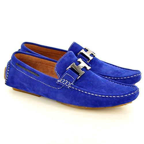 My Perfect Pair , Mocassins pour homme Beige Beige Bleu - Bleu marine