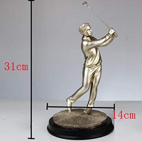 LZYPQY Skulptur Figurine Dekorationmoderne Kreative Europäischen Charakter Harz Statue Golf Paar Skulptur Athlet Figur Wohnkultur Handwerk Geschenk Großhandel, A