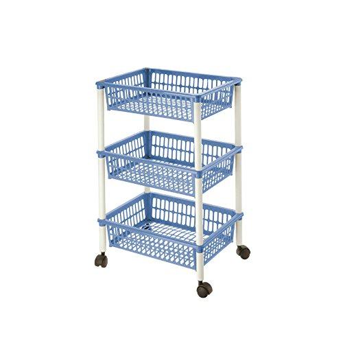 Lennox - Carrito verdulero 3 cestos 40x62 Mito 3 Azul