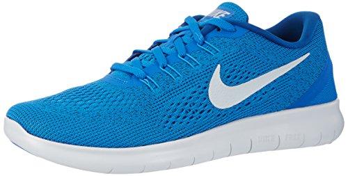 Nike Free Run, Chaussures Multisport Outdoor Homme Bleu (Soar/pr Pltnm-bl Glw-tm Ryl)