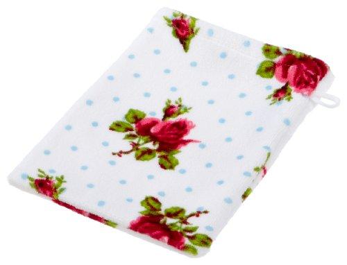 Pip 8715944073295-Asciugamano con motivo a rose e pois, da 16x 22cm, cotone, bianco - 22 Rose