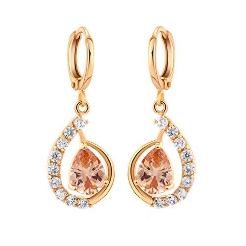 YAZILIND 18K Elegantes Vergoldet plattiert Zirkonia Band Ohrringe ChampangeCharming baumeln Ohrringe für Frauen