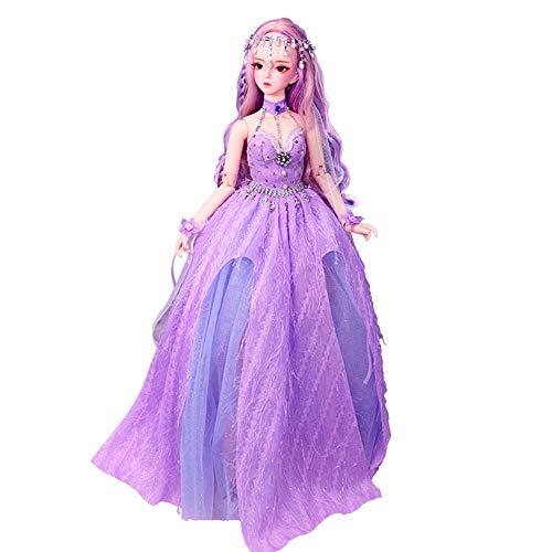 tes Kleid 60 cm Lila Federpuppe Anime Stil Puppe Geburtstagsgeschenk Gemeinsame Puppe Kind Spielkamerad Mädchen Spielzeug Puppe ()