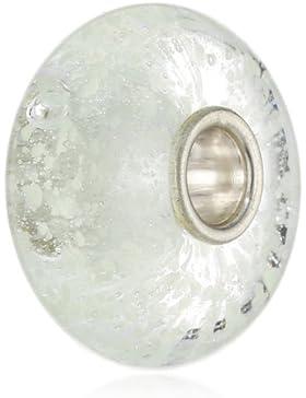 TrollBeads Damen-Bead Inneres Leuchten Glas fluoreszierend 925 Sterling Silber TGLBE-20004