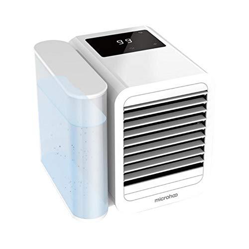 Geschlossene Kühlung (3-in-1 Mini-Lüfter USB wiederaufladbare Klimaanlage Lüfter Befeuchtende Kühlung Luftreinigung Luftkühler für Home Office Outdoor)