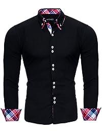 Reslad Herren Hemd Button-Down Slim Fit Bügelleicht RS-7015