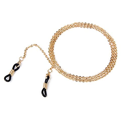 2mm Eyeglasses Chain Reading Glasses Eyewear Spectacles Chain Neck Cord Rose Gold