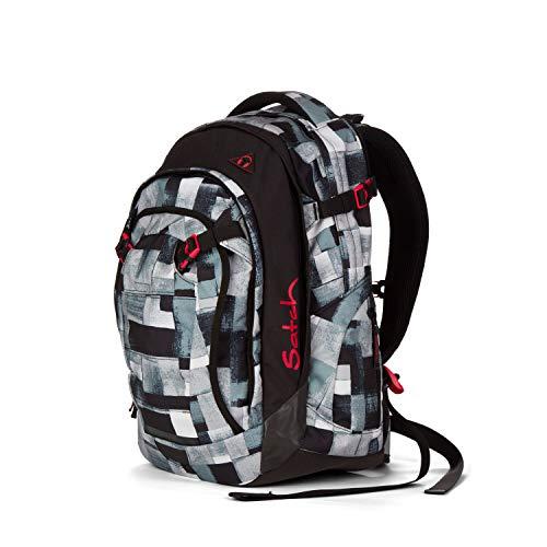 Satch Match, City Fitty ergonomischer Schulrucksack, erweiterbar auf 35 Liter, extra Fronttasche
