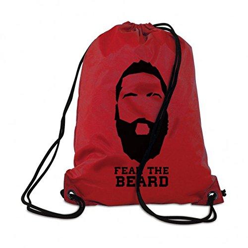 CALWDOMN Fear The Beard Turnbeutel Basketball Rucksack Beutel James Harden Gym Bag Strand Tasche Beach NBA Houston Rockets