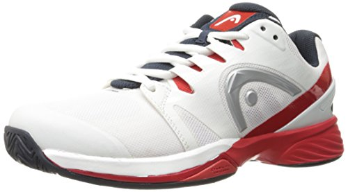Head Nzzzo PRO, Scarpe da Tennis Uomo, Bianco (White/Red Whrd), 44.5 EU