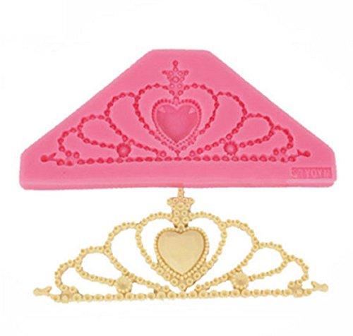 Stampo in silicone per uso alimentare con calco a forma di tiara corona decorazione