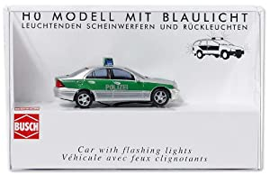 Busch 5630 - Coche Mercedes Clase C modelo T de la policía importado de Alemania