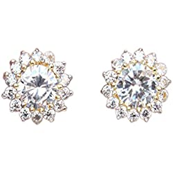 Sanara gold polished Stylish stud earring jewellery for girls party wear