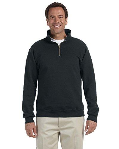 Jerzees Mens Super Sweats 50/50 Quarter-Zip Pullover (4528) -Black -3XL -