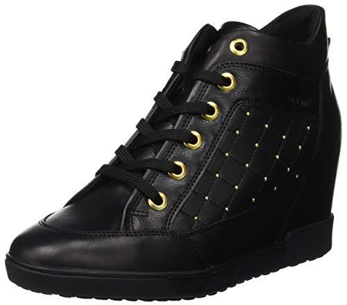 Geox D D CARUM C C, Sneakers Basses Femme, Noir (Black...