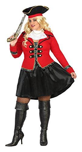 Atosa-31486 Disfraz Pirata, Color Rojo, XL (31486)