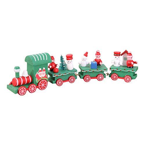 Igemy Weihnachts Hölzerne Zug Kinderbevorzugungs, Verzierungs Baum Dekorationen Hängen (B) (Weihnachten Zug Dekorationen)
