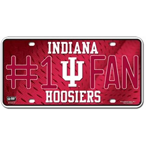 NCAA Indiana Hoosiers #1 Fan Metal Tag