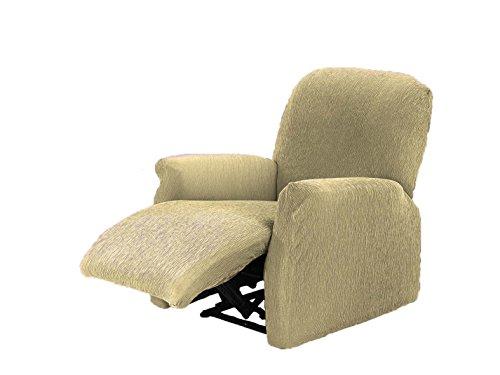 Textilhome - Stretchhusse für Relaxsessel Komplett TEIDE , 1 Sitzer - 70 a 100Cm. Farbe Beige