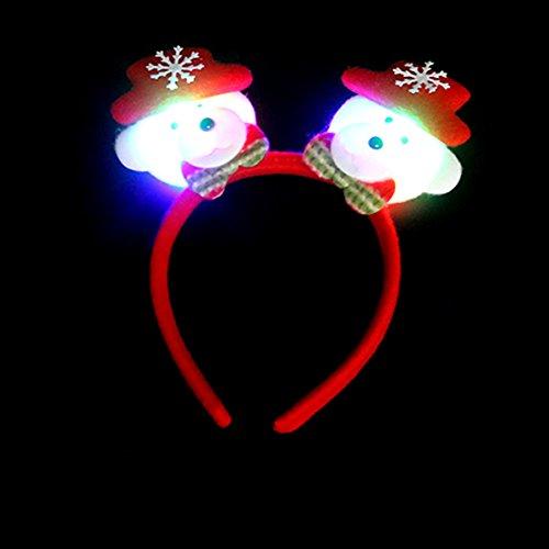 Tutoy Blinkende Doppelköpfe Weihnachtskopfschließe Stirnband Weihnachtshaarband Weihnachtsfestzubehör - # (Hexe Hoop Kostüme)