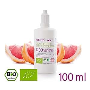 BIO Grapefruit Kern Extrakt, 1200 mg Bioflavonoide, 100 ml - hergestellt in Deutschland -Top Preis-Leistungsverhältnis