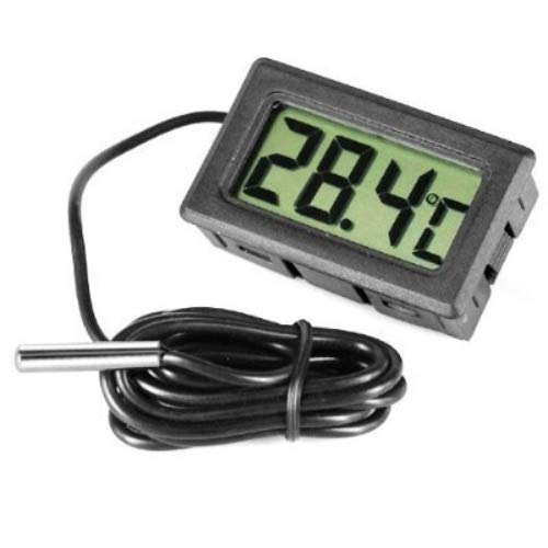 Unbekannt None GadgetpoolUK Digital-Thermometer für den Kühlschrank/Gefrierschrank, Stahl, schwarz -
