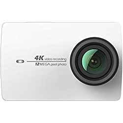 YI 4k Caméra d'Action Full HD 12MP WIFI 155 ° Grand Angle 1200mAh 120 minutes 4K/30 Enregistrement Video Rétine Display Ecran Tactile 2.19- Blanche