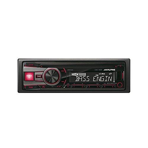 Alpine CDE-190R Amplificateur noir de voiture Media Receiver - Car media Receivers (4.0 Channels, FM, LW, MW, 87,5 - 108 MHz, 531 - 1602 kHz, 153 - 281 kHz, 1 ligne)