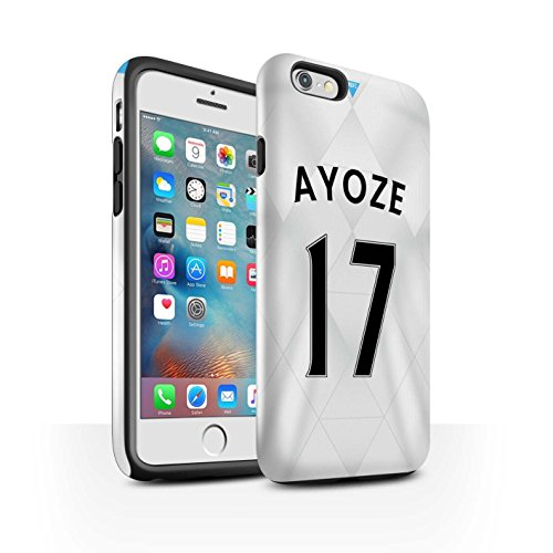 Offiziell Newcastle United FC Hülle / Glanz Harten Stoßfest Case für Apple iPhone 6S+/Plus / Pack 29pcs Muster / NUFC Trikot Away 15/16 Kollektion Ayoze