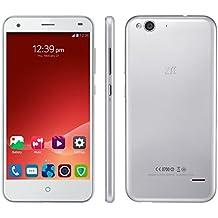 "ZTE Blade S6 Smartphone Libre 4G Movil Octa Core Android 5.0 Lollipop Y Doble SIM y Doble modo de Espera Pantalla 5.0"" Pulgadas IPS 2G RAM + 16G ROM Camara 13.0MP GPS WIFI Air Gesture Celular - Plateado"