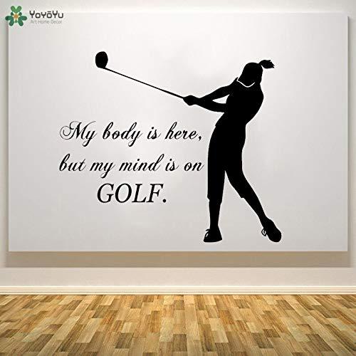Sticker murale golf girl wall sticker vinyl decor per il campo da golf sport all'aria aperta art wallpaper disponibile 86x100cm